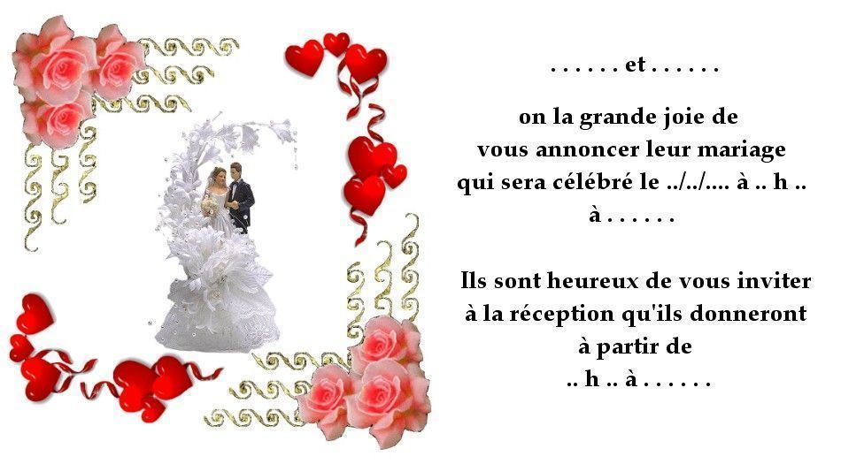 Invitation de mariage stopboris Image collections